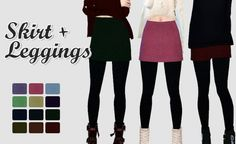 Skirt Leggings at Rinvalee • Sims 4 Updates