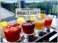 Make Your Own Margarita Flight!
