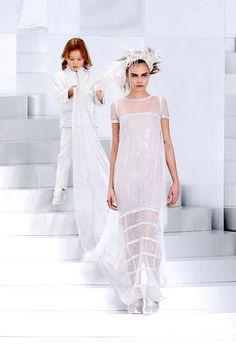 Cara Delevingne as a Chanel couture bride