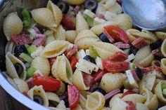Antipasto seashell pasta Salad