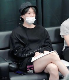 """""""like I don't know how to explain like obviously I know yoongi has legs but whenever I see them I'm like oh my god he has legs"""" Bts Suga, Min Yoongi Bts, Bts Bangtan Boy, Hoseok, S Videos, Rapper, Min Yoonji, Bts Pictures, Mood"""