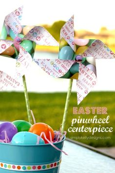 DIY Easter Pinwheel Centerpiece With Free Cut File from Teske Goldsworthy Teske Goldsworthy Hedgespeth: Simply Kelly Designs Crafts For Seniors, Crafts For Kids, Diy Crafts, Spring Crafts, Holiday Crafts, Holiday Fun, Holiday Ideas, Pinwheel Centerpiece, Diy Pinwheel