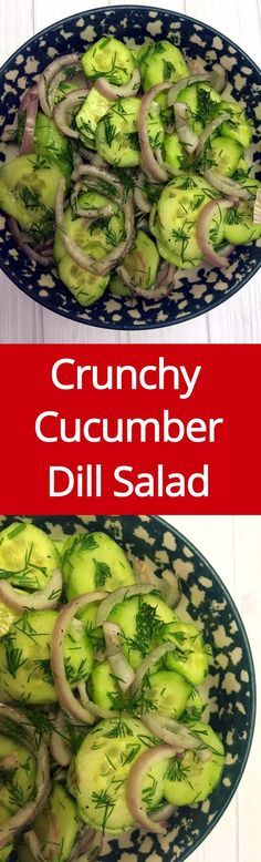 Cucumber Dill Salad Recipe With Red Onion