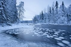 Winter river landscape - Simo River. Photo: Johannes Sipponen