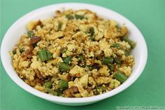 scrambled tofu with long/ french beans