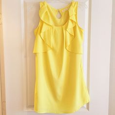 Bright Yellow Summer Dress I bought this dress at a boutique and it's only been worn twice. Still in great condition! Dresses