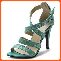 12b27276bad53 Ollio Women s Shoe High Heel Cross Strap Sandal (8 B(M) US