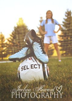 Soccer senior picture ideas: I will have a picture like this