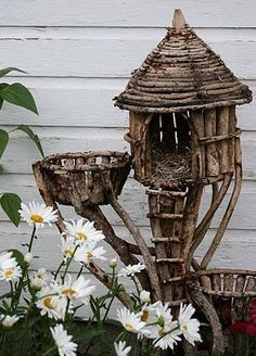 tall twig fairy house - Google Search