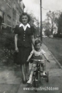 Francis Marcovics Hartford 1944   Francis with his mother- The Hartford Circus Fire ~ July 6, 1944