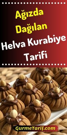 Receta de galletas Halva en la boca - Receta gourmet - que la la # Postres # Tatlıtarifl a - Gourmet Recipes, Cookie Recipes, Dessert Recipes, Quick Dessert, Fall Desserts, Sweet Desserts, Sheet Cake Recipes, Light Snacks, Pumpkin Dessert