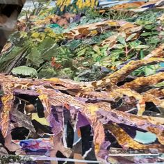 Commissioned collage art featureing a woodland stream. Collage Art, Woodland, Abstract, Nature, Artist, Painting, Summary, Naturaleza, Artists