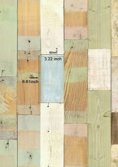 Reclaimed Wood Planks Panel Pattern Contact Paper Self-adhesive Peel-stick Wallpaper