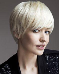 Cute short white bob hairstyle