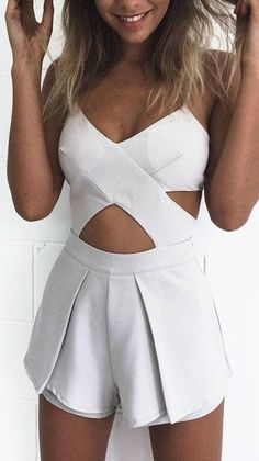 #summer #mishkahboutique #outfits | Criss Cross Playsuit
