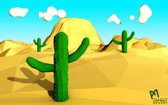 Low Poly Desert by DesMYM on deviantART