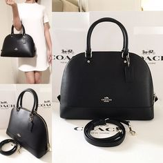 ⚜Coach⚜Sierra Satchel ✨Brand New With Tag Coach Sierra Satchel✨   GUARANTEE AUTHENTIC  Only $175 on Ⓜ️erc and Viinted  Color: Black with gold hardware  Interior: 2 slip pockets and 1 zippered pocket Exterior: 1 slip pocket in the back Comes with adjustable/removable cross body strap Coach Bags Satchels