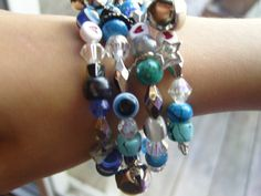 Gypsy Baubles and Bells Turquois and Blues by TheWhisperingWorld, $9.99