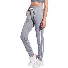 5a3c93cbe8eee1 Puli Women's Drawstring Waist Sports Gym Running Athletic Workout Leggings  Jogger Sweatpants With Pockets (Grey, XL) -- Be sure to check out this  awesome ...