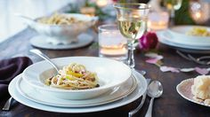 Romantic dinner recipes  I make angel hair pasta and toss it with butter/parmesan and smoked oysters(in the can) In-expensive and good!