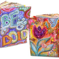 Colorful altered books