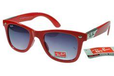 422a46d64 $14.86 got Best Ray Ban Wayfarer RB2140 Red--Grey Lens Cheaps1078 Wayfarer  Sunglasses,