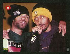 The Source Magazine Issue March Coast II Coast. Wu-Tang high priests Method Man and Rza discuss the next technique to flip on the crowd. Wu Tang Clan, Arte Do Hip Hop, Hip Hop Art, Rap Music, Music Love, East Coast Hip Hop, U God, Source Magazine, Teachers