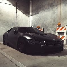 Matte Black BMW I8   @freshtastics Courtesy Of @lordmcdonnell By  Luxurylifestylemagazine