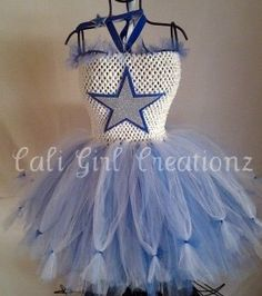 Dallas Cowboys Tutu Dress SZ Med for girls by by CaliGirlCreationz, $85.00