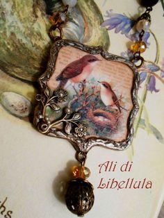 Ali di Libellula: ENGLISH COUNTRYSIDE mixed media