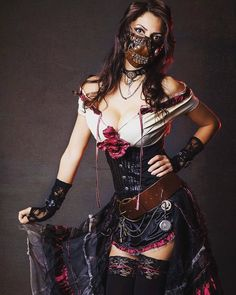 Steampunk Lover — Mask, corset, dress? What do you like the most?...