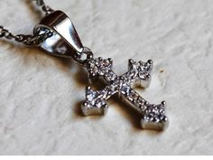 Hey, I found this really awesome Etsy listing at https://www.etsy.com/listing/286245547/925-platinum-sterling-cross-pendant-925