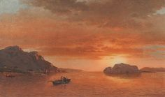 William Bradford, Men Fishing in a Cove, Labrador - Hudson River School