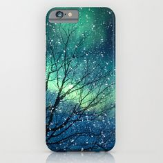 Aurora Borealis Northern Lights iPhone & iPod Case featuring polyvore fashion accessories tech accessories cases phone