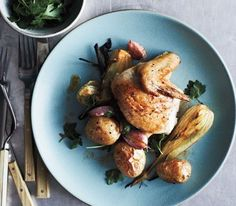 One-pot roasted chicken, fennel, and potatoes from Real Simple. Looks divine.