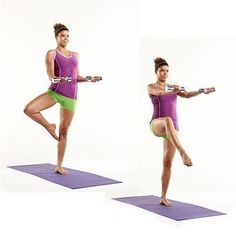 Move of the Day: Biceps With Front Balance | health.com