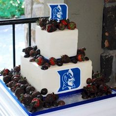 Duke Blue Devils by Cup a Dee Cakes. Not to mention delicious chocolate covered strawberries!