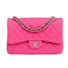Chanel Hot Pink Matte Quilted Caviar Classic 2.55 Jumbo Double Flap Bag | From a collection of rare vintage handbags and purses at http://www.1stdibs.com/fashion/accessories/handbags-purses/