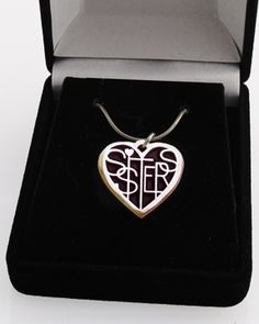 Sister Lover's Heart® ...pinned by ♥ wootandhammy.com, thoughtful jewelry.