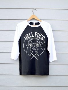 700dc375d1ad Items similar to Hell Pugs, Pug Shirts, Funny Dog Shirt, Mens Dog Shirts,  Pug Tee Shirt, Pug T-shirt, Pug Graphic Tee, Doggy Tshirt, on Etsy