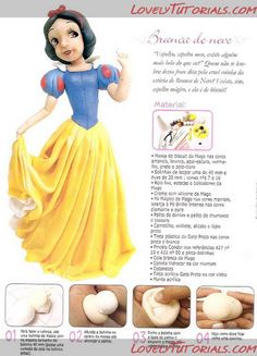 Snow White & the Seven Dwarfs Tutorials for Cake or Clay