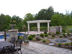 pergola & patio seating area