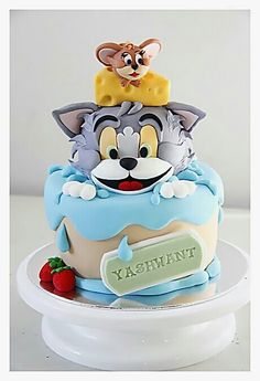 #Amazing #Crazy #Tasty #Artistic #Cartoon #Tom #Table #And  #Jerry #Cake.