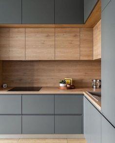 Kitchen Room Design, Kitchen Cabinet Design, Modern Kitchen Design, Home Decor Kitchen, Interior Design Kitchen, Home Kitchens, Kitchen Ideas, Black Kitchens, Kitchen Trends
