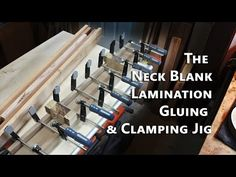 Neck Blank Lamination Gluing & Clamping Jig | Project Electric Guitar