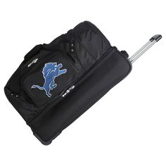 NFL Detroit Lions Mojo 27 Rolling Drop Bottom Duffle Bag