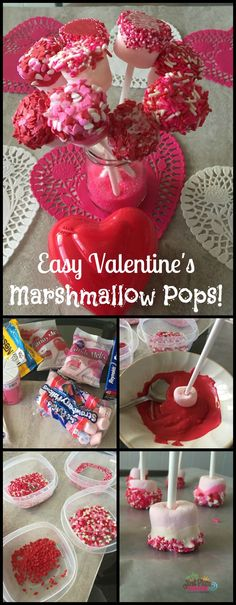 It's Valentine's Day and when you have toddlers at home, you look for easy Valentine's Day treats to make. Marshmallow Pops recipe is just that...easy!
