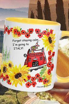 I'm going to Italy! #Italy #mugs #Italian #madeinitaly All Year Round, Italian Summer, Mamma Mia, Italian Fashion, Calm, Italy Italy, Beach Fashion, Dreams, Funny Stuff
