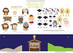 My kids will love this nativity set. #christmas #nativity #children #activity
