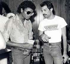Freddie Mercury & Michael Jackson, #michaeljackson, #queen